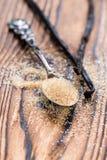Haufen des Brown-Vanille-Zuckers Lizenzfreies Stockbild