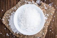 Haufen des groben Salzes lizenzfreie stockfotografie