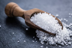 Haufen des groben Salzes lizenzfreie stockfotos