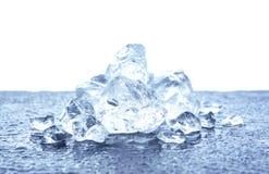 Haufen des zerquetschten Eises Stockbild