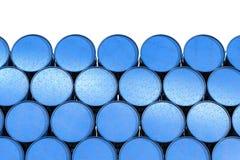 Haufen von blauen Fässern stock abbildung