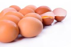 Haufen von den Eiern lokalisiert Stockfotografie