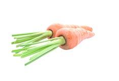 Haufen von den Karotten lokalisiert auf weißem Hintergrund Lizenzfreie Stockfotos
