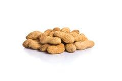 Haufen von Erdnüssen in Shell stockfoto
