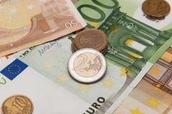 Haufen von Euro Stockfoto