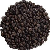 Haufen von Kaffeebohnen Stockfoto