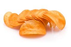 Haufen von Kartoffelchips Lizenzfreies Stockfoto