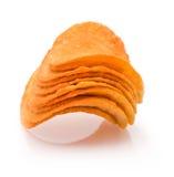 Haufen von Kartoffelchips Lizenzfreie Stockbilder