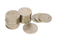 Haufen von sowjetischen Münzen Stockfotos
