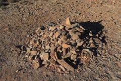 Haufen von Steinen im Kalahari in Namibia Lizenzfreie Stockfotografie