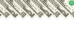 Haufen von Unsdollar-Banknoten lizenzfreies stockbild