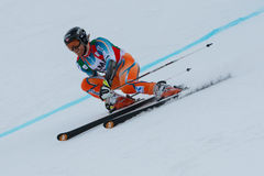 HAUGEN Leif Kristian (NOR). Alta Badia, ITALY 22 December 2013. HAUGEN Leif Kristian (NOR) competing in the Audi FIS Alpine Skiing World Cup MEN'S GIANT SLALOM Royalty Free Stock Photos
