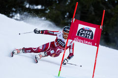 HAUGEN Leif Kristian in Audi Fis Alpine Skiing World-Schale Men's lizenzfreies stockbild