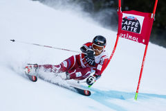 HAUGEN Leif Kristian in Audi Fis Alpine Skiing World-Schale Men's lizenzfreie stockfotos
