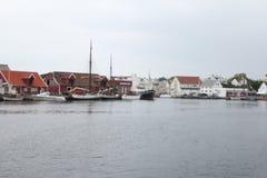 Haugesund. Overlooking the marina in Haugesund Stock Photos