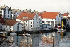 Haugesund Panorama stockbild