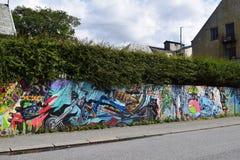 Haugesundgraffiti Royalty-vrije Stock Afbeeldingen
