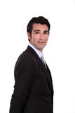 Haughty businessman. On white background Royalty Free Stock Photo