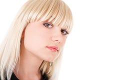 Haughty look of the girl. Haughty look of the blond girl Stock Image