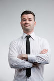 Haughty man showing off he's best royalty free stock images