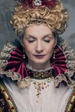 Haughty queen. Portrait of beautiful haughty queen Stock Photo