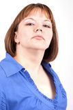 The haughty woman. On a white background Stock Photography