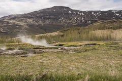 Haukadalslaug Hete Pot/het Geothermische Gebied van Haukadalur Royalty-vrije Stock Foto's