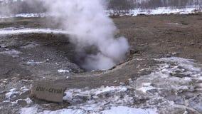 Haukadalur, Ισλανδία, Ευρώπη απόθεμα βίντεο