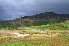 haukadalur зоны геотермическое Стоковое Изображение