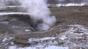 Haukadalur Island, Europa lager videofilmer