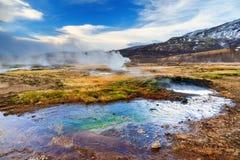 Haukadalur landscape Royalty Free Stock Photo