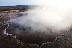 Haukadalur (geysir, geyser) valley, Golden Circle, Iceland Stock Photos