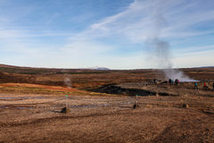 Haukadalur (geysir, geyser) valley, Golden Circle, Iceland Royalty Free Stock Photo
