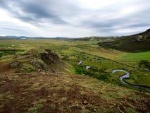 Haukadalurvallei, IJsland Stock Foto's