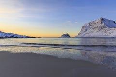 Haukland beach on Lofoten Islands Royalty Free Stock Photos