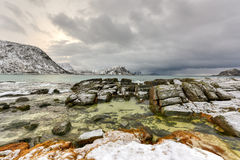 Haukland Beach, Lofoten Islands, Norway Stock Photo