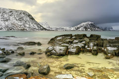Haukland Beach, Lofoten Islands, Norway Stock Photography