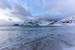 Haukland Beach, Lofoten Islands, Norway Stock Photos