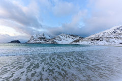 Haukland Beach, Lofoten Islands, Norway Royalty Free Stock Photo