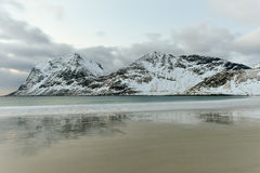 Haukland Beach, Lofoten Islands, Norway Stock Image