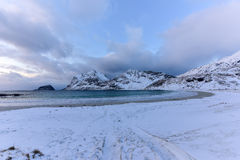 Haukland Beach, Lofoten Islands, Norway Stock Images