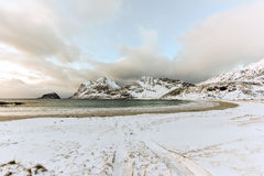 Haukland Beach, Lofoten Islands, Norway Royalty Free Stock Image