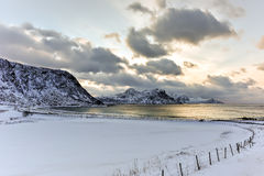 Haukland Beach, Lofoten Islands, Norway Royalty Free Stock Photos