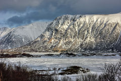 Hauklandsvatnet, Lofoten Islands, Norway Stock Photos