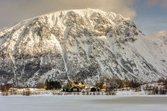 Hauklandsvatnet, Lofoten Islands, Norway Royalty Free Stock Photography