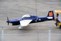 Haul aircraft hangar in Air race 1. Royalty Free Stock Images