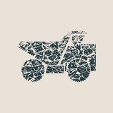 Haul or dump truck vector icon. Royalty Free Stock Photos