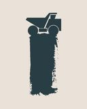 Haul or dump truck vector icon. Stock Photo