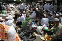 Haul. People of Arab descent gathered in a haul in the city of Solo, Central Java, Indonesia Stock Photo