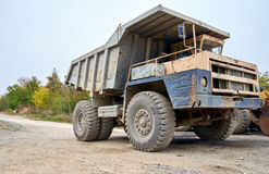 Haul truck close up. Haul dump truck close up Royalty Free Stock Image